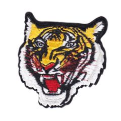 Cool Tattoo Style Tiger Patch Large 7.5cm