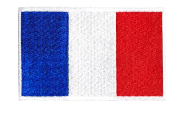 French Flag France Patch 9cm x 6cm