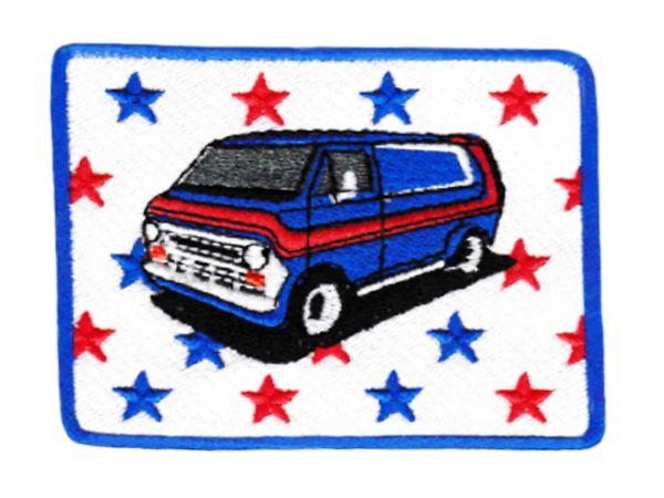 Keep on Truckin' Style Vintage Custom Van Shaggin' Wagon Patch 8.5cm
