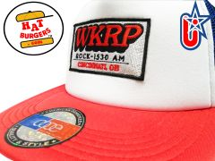 smARTpatches Truckers Vintage Style WKRP in Cincinnati Trucker Hat (Red/White/Blue)