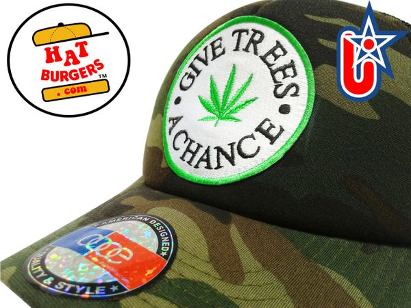 smartpatches Truckers Give Trees A Chance Trucker Hat Curved Bill (Camo)
