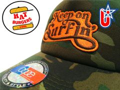 smartpatches Truckers Keep on Surfin Surfing Trucker Hat Curved Bill (Camo)