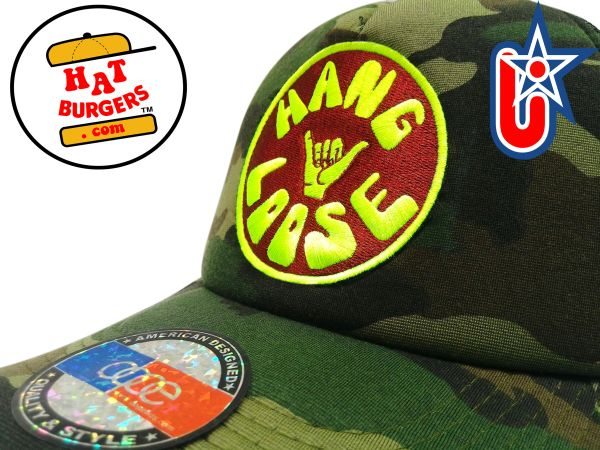smartpatches Truckers Hang Loose Surfing Trucker Hat Curved Bill (Camo)