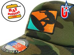 smARTpatches Truckers Sunny Surfer Surfing Trucker Hat Curved Bill (Camo)