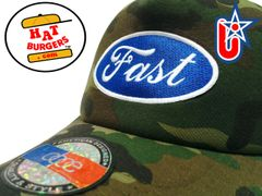 "smARTpatches Truckers ""Fast"" Racing Trucker Hat Curved Bill (Camo)"