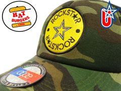 smARTpatches Truckers Rock Star Trucker Hat Curved Bill (Camo)