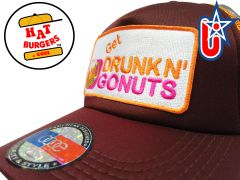 smARTpatches Truckers Party Drinking Trucker Hat Curved Bill (Cinnamon & Orange)