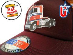 smARTpatches Truckers Semi Big Rig Trucker Hat Curved Bill (Orange & Cinnamon)