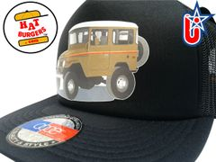 smARTpatches Truckers 70's 4 x 4 Truck Trucker Hat (Olive Truck, Solid Black)