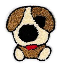 Large Cute 10.5cm Chenille Puppy Dog Patch Applique