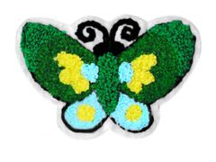 Large & Beautiful Chenille Butterfly Patch 11cm Applique