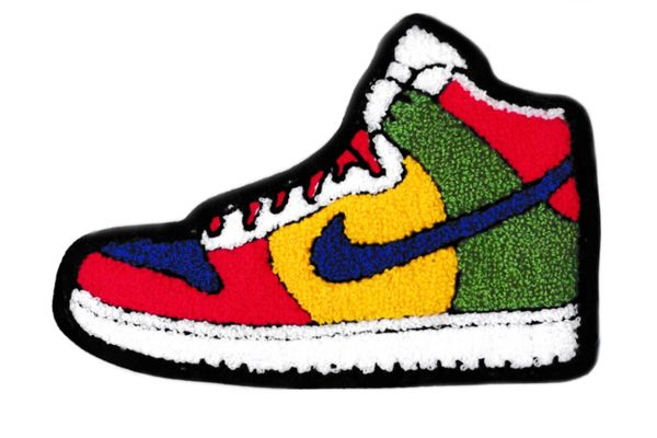 XXL Extra Large Colorful Basketball Chenille Shoe Patch 19cm Applique
