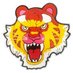 Extra Large Chenille Tiger Patch XXL (26.5cm) Applique