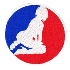 Major League Sexy Girl USA Silhouette Patch 8cm Applique