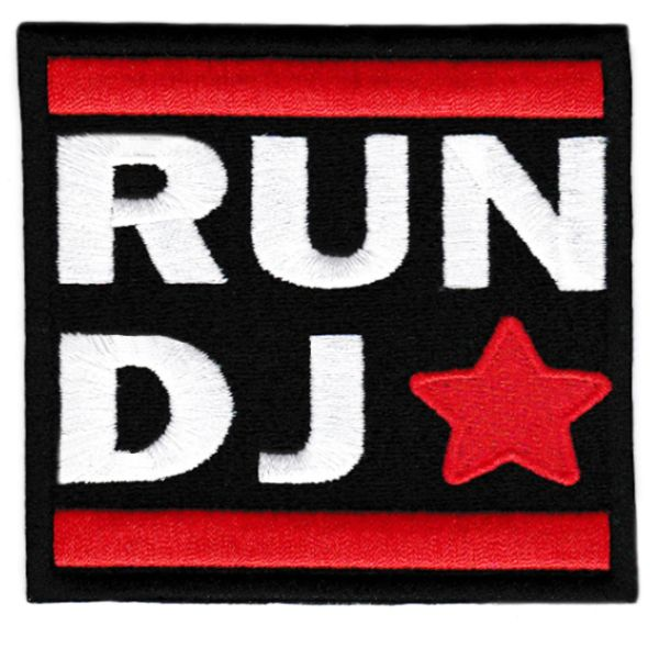 Cool Vintage Style DJ Hip Hop Patch 8cm x 8cm Applique
