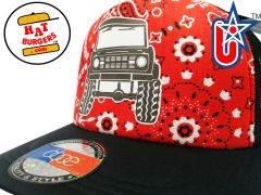 smARTpatches Truckers 70's Muscle Car Hot Rod Truck Trucker Hat (Bandana,Black)