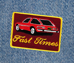 Fast Times Vintage AMC Pacer Car Patch 8.5cm