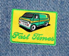 Fast Times Vintage Custom Van Patch 8.5cm