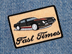 Fast Times Vintage 70's Sports Car Patch 8.5cm