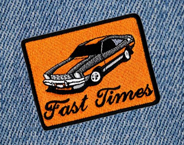 Fast Times Vintage 70's Sports Car Patch 8.5cm