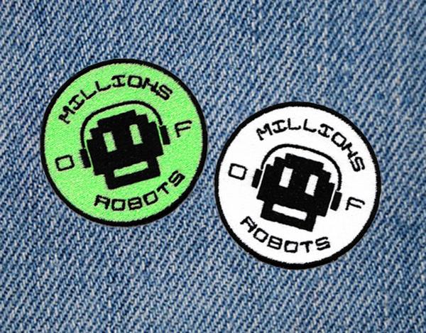 Millions of Robots MOR Skater Skateboarding Patch 7.5cm
