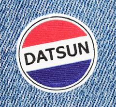 Vintage Style Datsun Patch 8cm
