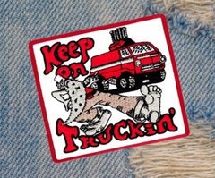 Keep on Truckin' Patch Shaggin Wagon Van Vintage Style 70's Patch 10cm