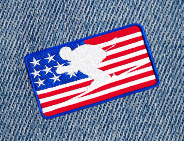 Cool USA American Downhill Skiing Patch 10cm