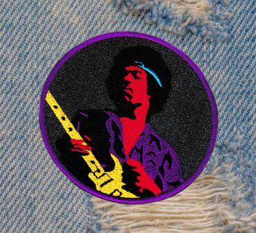 Cool 60's Rocker Guitar Patch 8cm