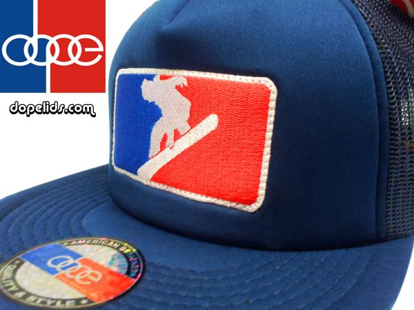 smartpatches Snowboarding Silhouette Trucker Hat