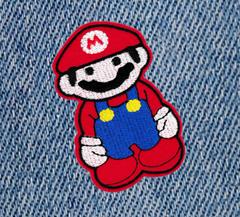 Cool 80's Style Mario Patch 10cm Applique