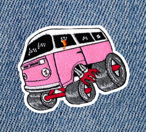Cool Vintage Style 70's Hot Rod Van Bus Patch 9.5cm