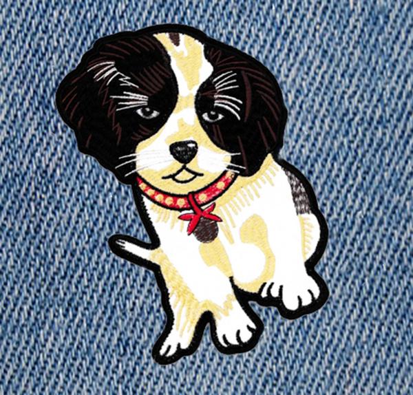 XXL Large Cute 23cm Puppy Dog Patch Applique