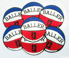 "Cool Vintage Style Chenille Basketball Patch ""Baller"" 15cm Applique"