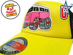 smARTpatches Truckers 70's Hippie Van Car Hot Rod Truck Trucker Hat (Yellow, Black)