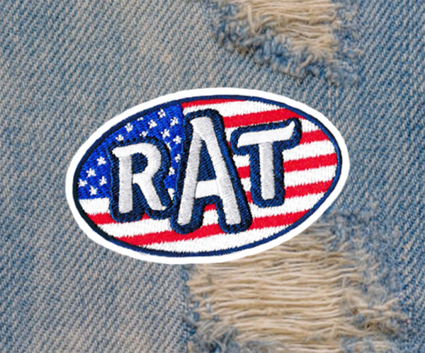 Vintage Style 70's RAT Patch 9cm