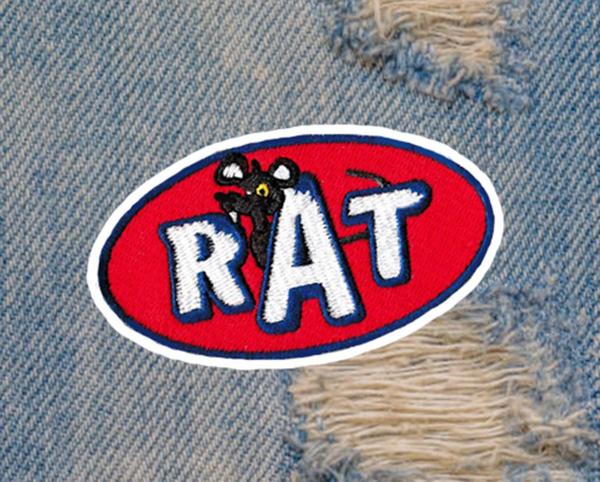 Vintage Style 70's RAT Patch 9cm