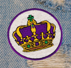 Cool Purple Royal Crown Patch King Queen 7.5cm Applique