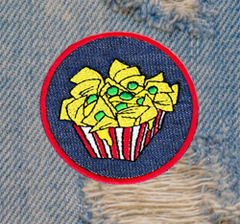 Cute Nachos Patch 7.5cm Emoji Applique