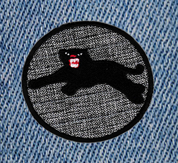 Cool Leaping Black Panther Patch 7.5cm Applique
