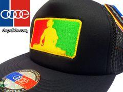 smartpatches Rasta DJ Silhouette Flat Bill Trucker Hat