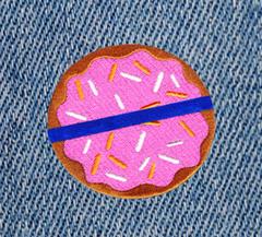 Police Blue Lives Matter BLM Donut Patch 7.5cm Applique