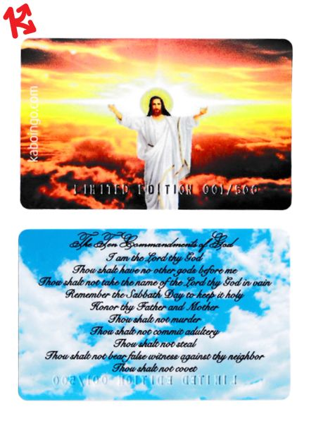 Christian Ten Commandments Kaboingo Card Limited Edition/500