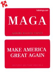 MAGA Make America Great Again Kaboingo Card Limited Edition/500