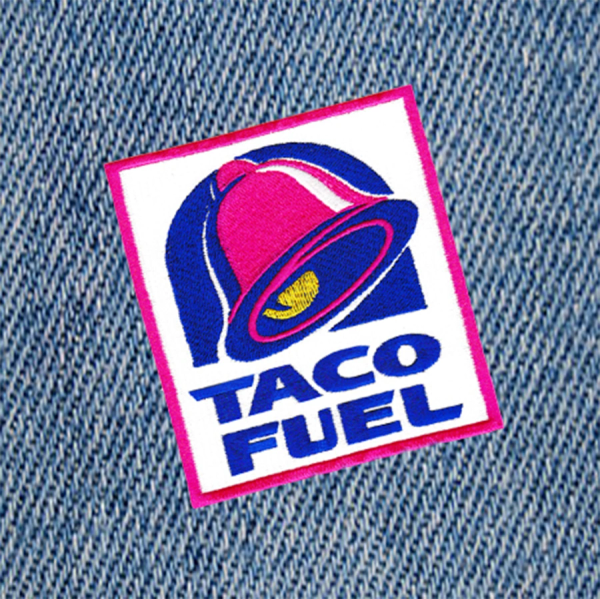 XL Taco Fuel Patch 10.5cm Applique