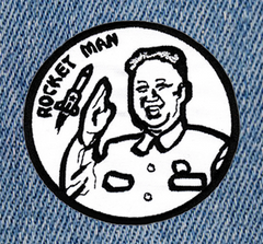 Cute & Funny Rocket Man Patch 8cm Applique