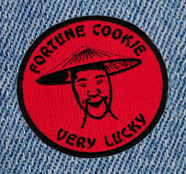 Cute & Funny Fortune Cookie Very Lucky Patch 8cm Applique