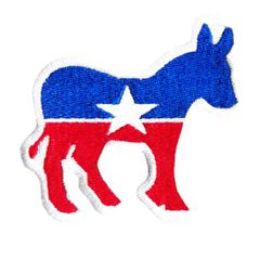 Cute Political Donkey Patch 8cm Applique