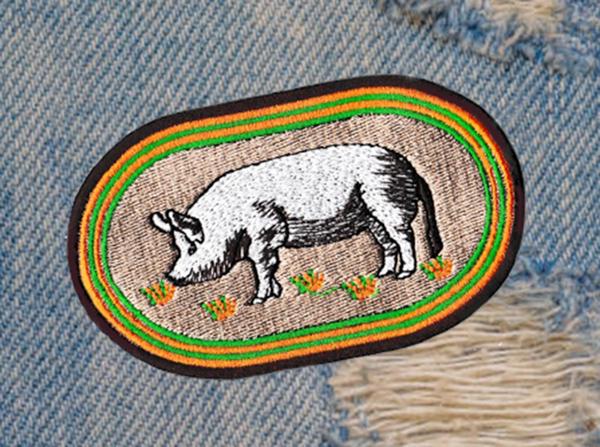 Americana Pig Patch 11cm
