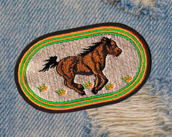 Americana Mustang Horse Patch 11cm